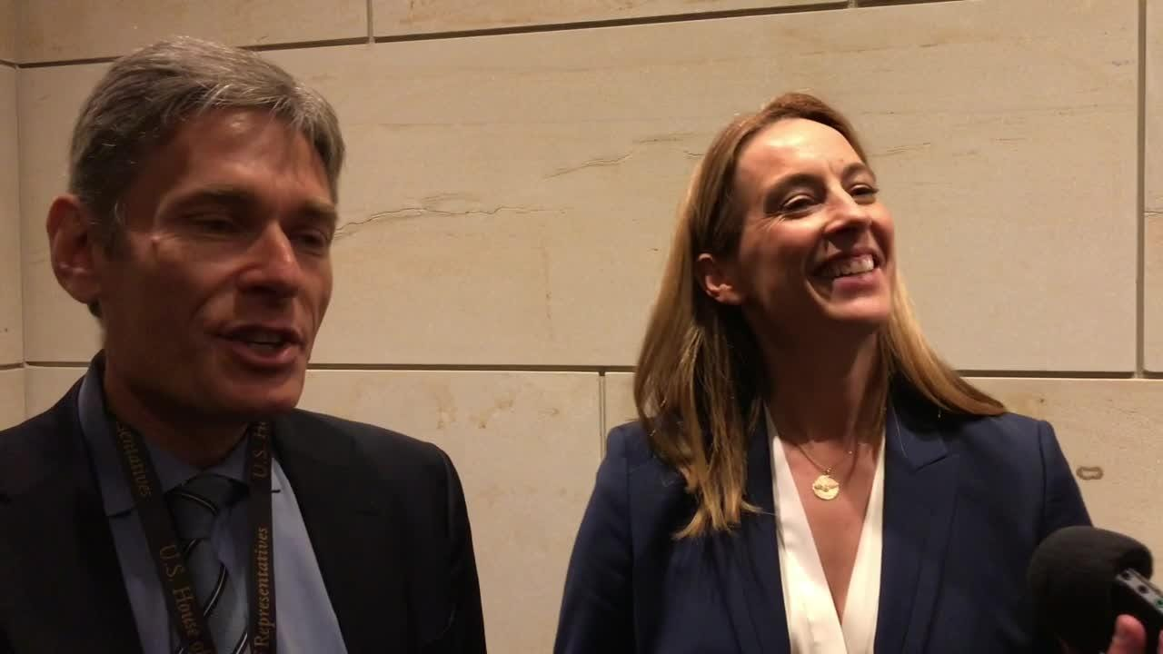 Reps.-elect Tom Malinowski, Mikie Sherrill and Andy Kim, all D-N.J., discuss their experiences Nov. 15 from their first week of new member orientation.
