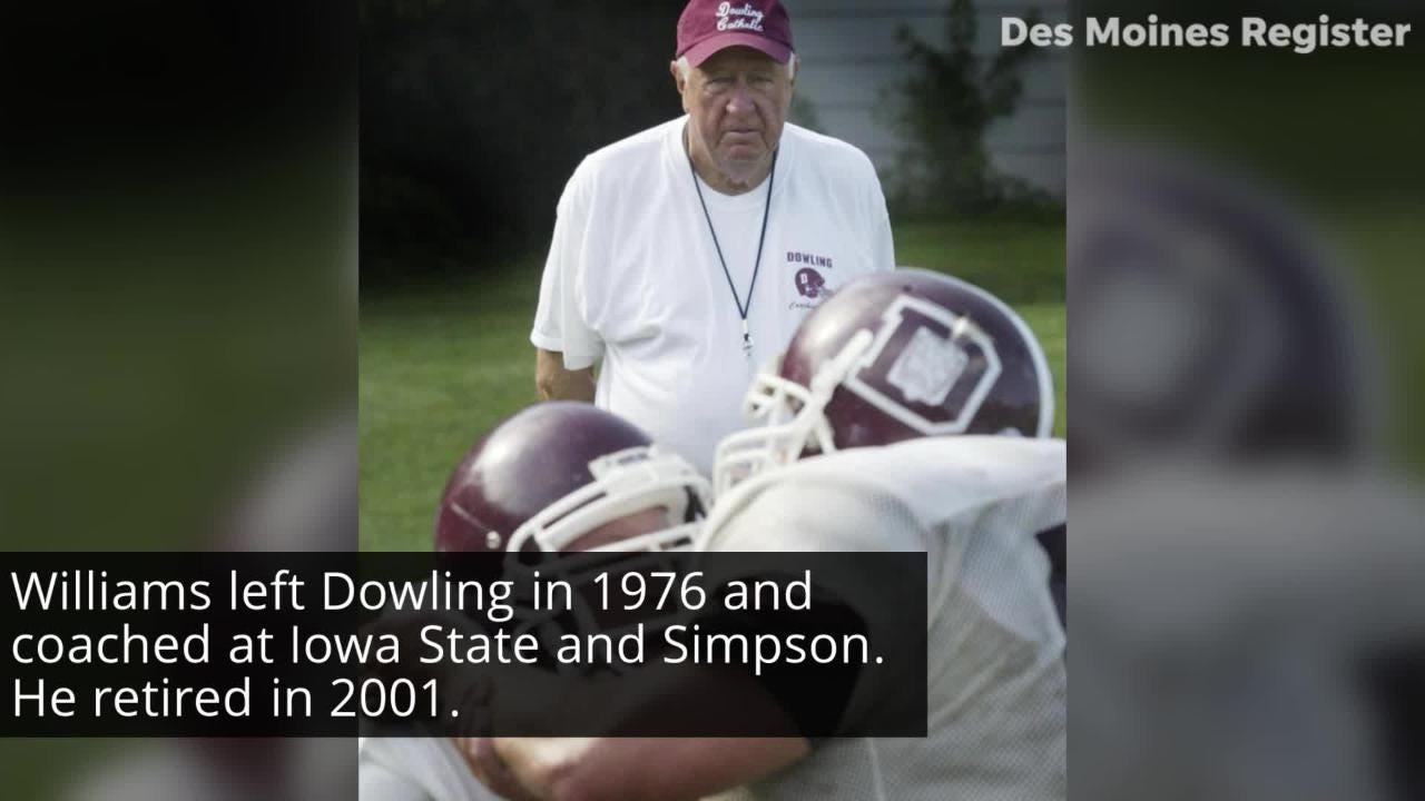 Jim Williams first coached Dowling from 1964-1975. He returned in 2005 to coach the offensive line, and has helped the Maroons to five straight Class 4A state titles.