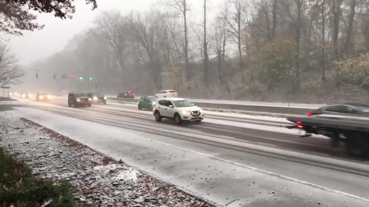 Road conditions on Route 59 in West Nyack around 3:30 p.m.