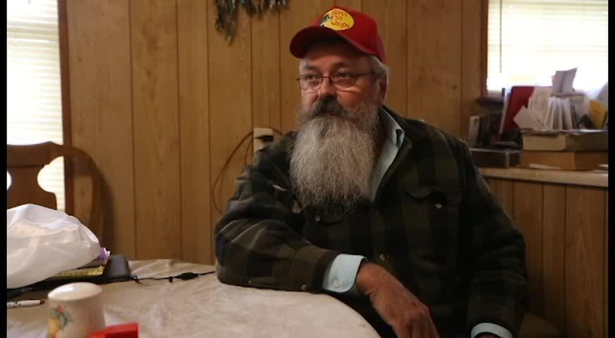 Kenneth Williams speaks about how his grandson escaped death during Hurricane Michael, Thursday, NOv. 15, 2018.