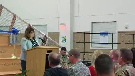 Fort Campbell showed off its new high school in a ribbon cutting ceremony. DoDEA Dr. Judith A. Minor talks about sustainable aspects of campus.
