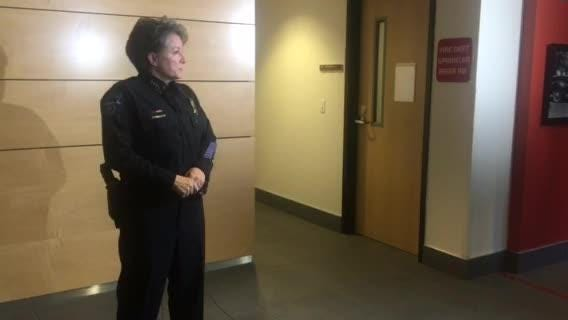 Tempe Police Chief Sylvia Moir on Thursday briefed the media about a work-related trip in which several officers went to a strip club.