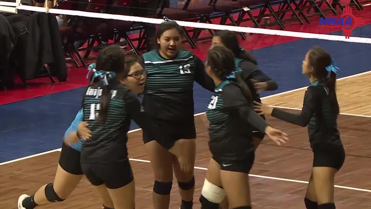 Strong defense and counterattacks propel Navajo Prep to 5-set victory in Thursday's 3A playoff opener in Rio Rancho.
