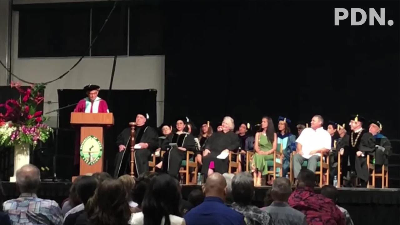 Robert Underwood shares hopeful message during the President Investiture Ceremony