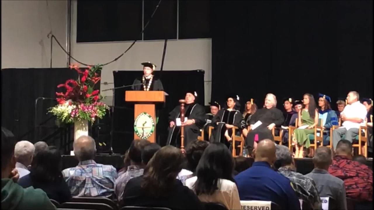 UOG President Dr. Thomas W. Krise makes his investiture speech