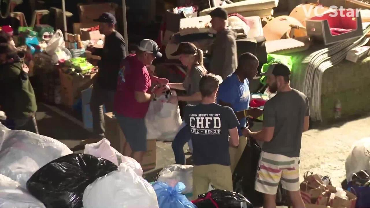 On Nov. 13, 2018, provisions were brought into Malibu by boat for victims of the Woolsey Fire.