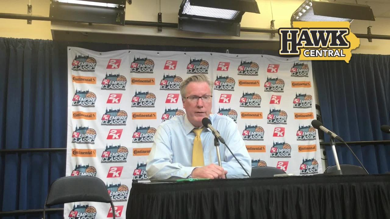 Iowa coach Fran McCaffery on what he got from Riley Till and his bench players