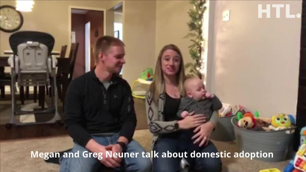 It's National Adoption Awareness Month, and Megan and Greg Neuner want world to know how their lives have been enriched by adopting baby Ben