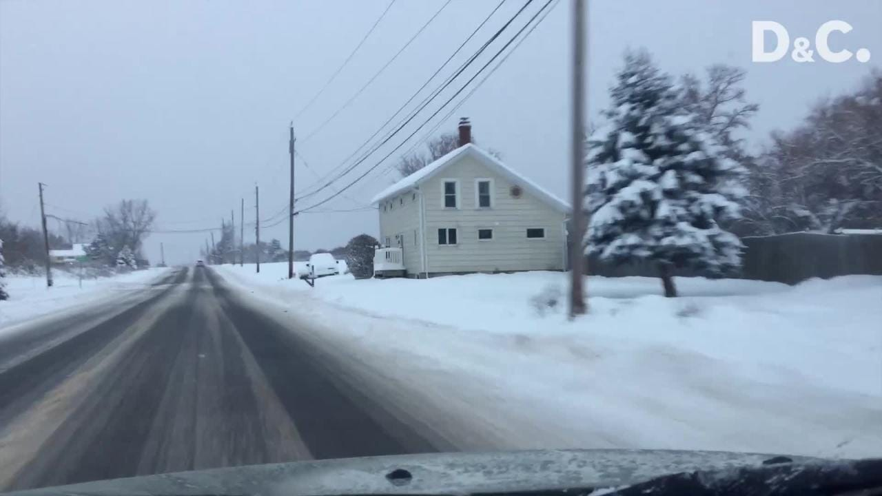 Snowfall was heavy in Livingston and Ontario counties. Be careful driving!