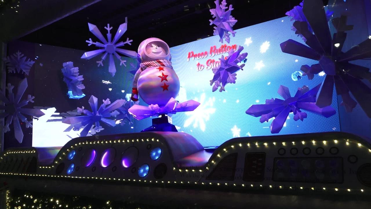 Hundreds turned out in a November snow storm for the annual unveiling of Macy's holiday windows.