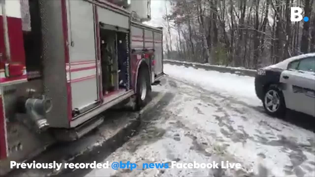 A tractor trailer jackknifed on 189 in South Burlington during a snow storm on Friday, Nov. 16, 2018, stranding dozens of motorists for hours.