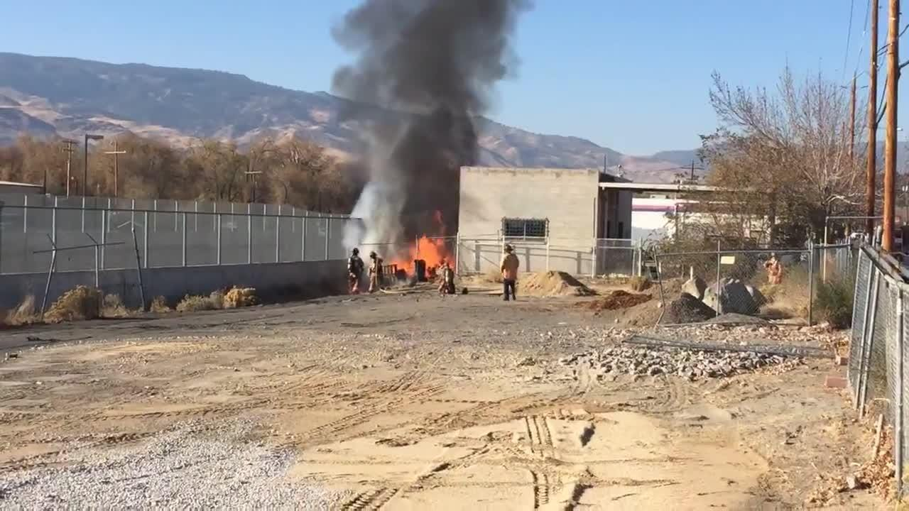 Watch these Reno firefighters put a blaze that sparked near downtown Reno, just west of Keystone Avenue.