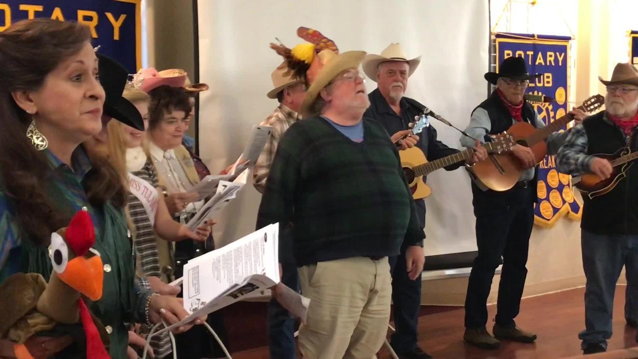 The Turkey Transit Singers performed for Visalia Breakfast Rotary Club on Thursday, Nov. 15.