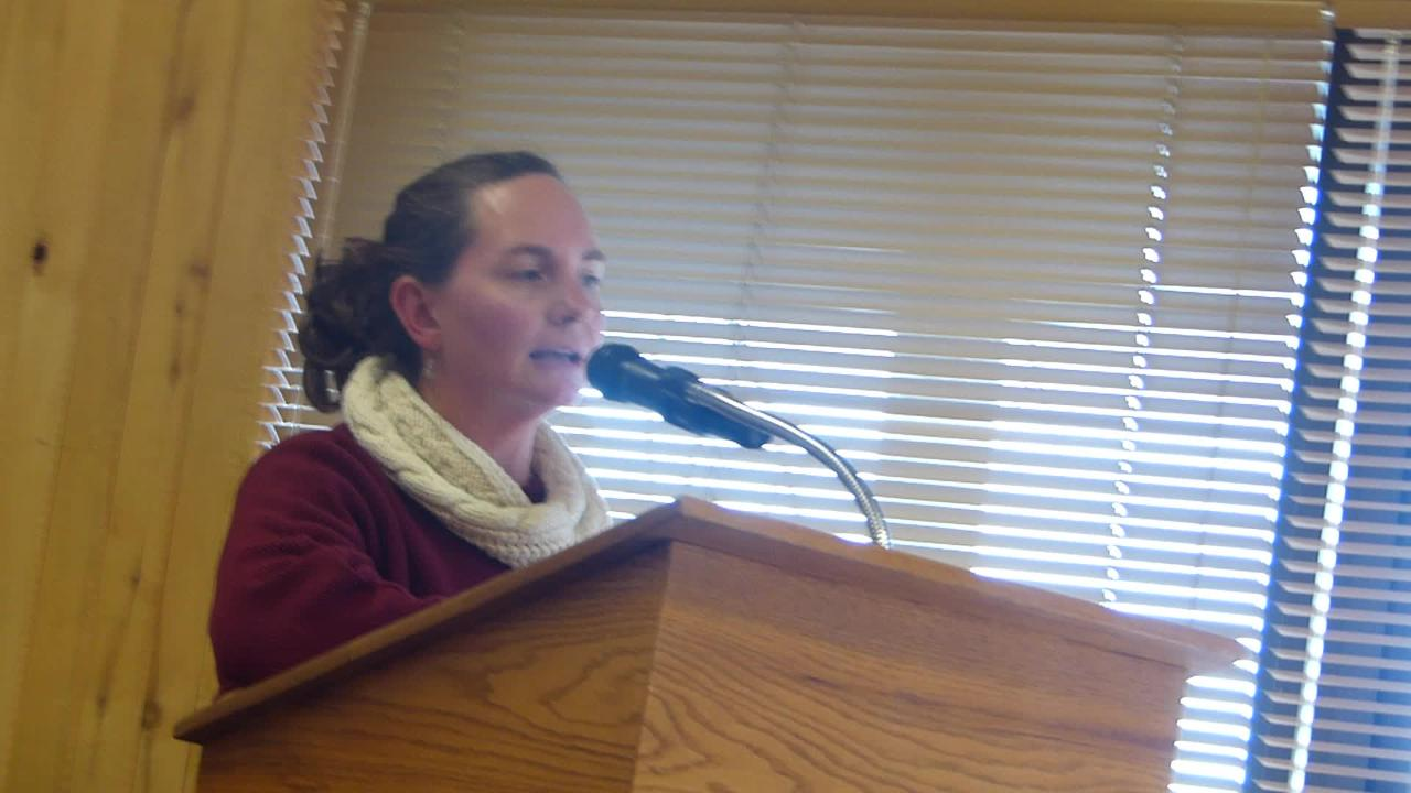 Christina Arnold of Alto gave her input on a right-to-work law during the Ruidoso Village Council  meeting