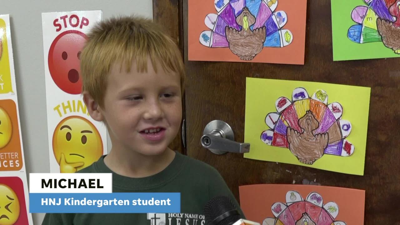 FLORIDA TODAY's Rob Landers asks kindergartners what one thing they would have taken with them if they'd sailed with the Pilgrims on the Mayflower.