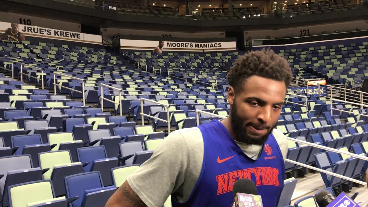 New York Knicks rookie Mitchell Robinson discusses the early part of his season.
