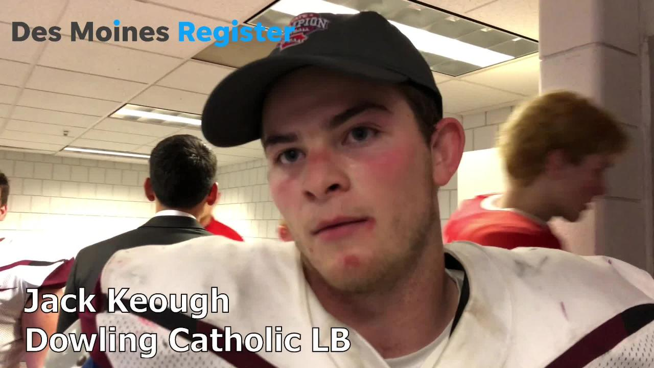 Jack Keough, Dowling's senior linebacker, discusses what it means to win a sixth straight state title.