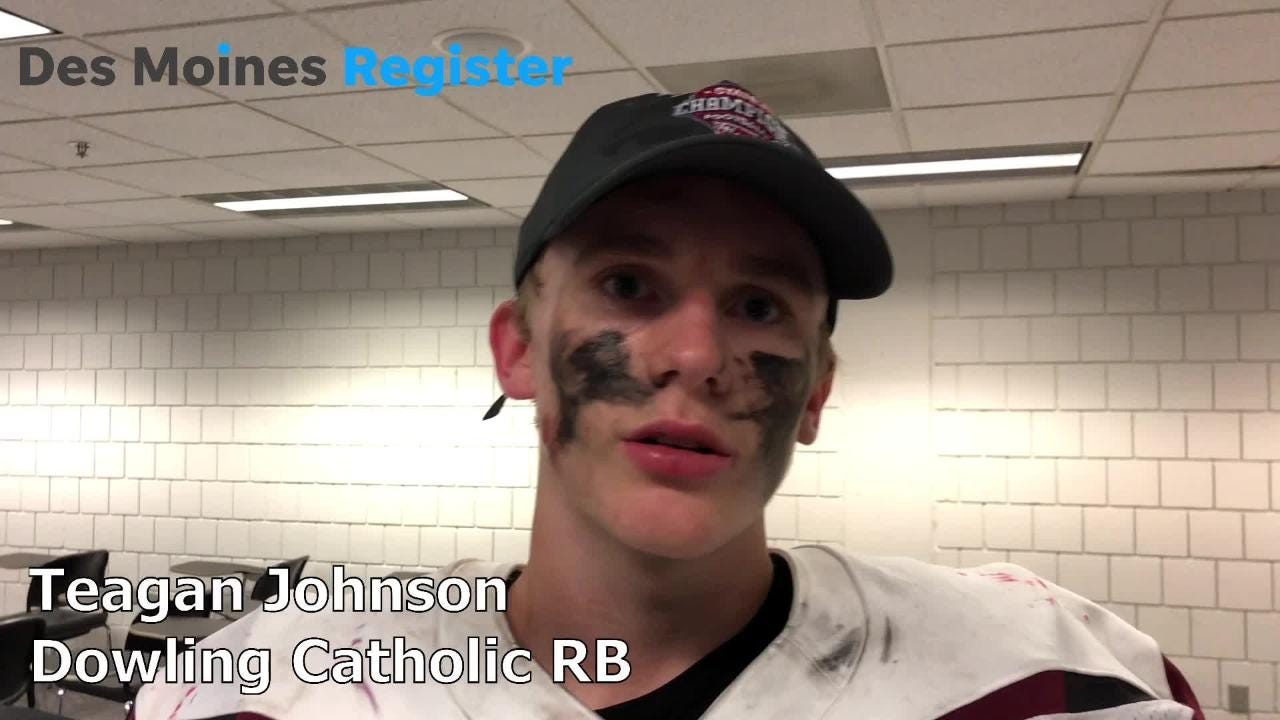 Teagan Johnson, Dowling's running back, rushed for 68 yards and two touchdowns to help the Maroons to a sixth straight state title.