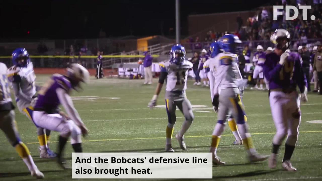 Bloomfield secondary sets tone early with two big turnovers Friday at KCHS, Broncos held to zero points scored for first time all season