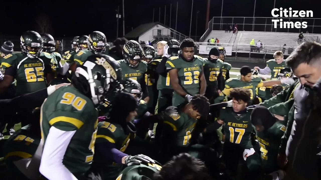 Reynolds high school hosted A.L Brown for their Friday night playoff game, Nov. 16, 2018.