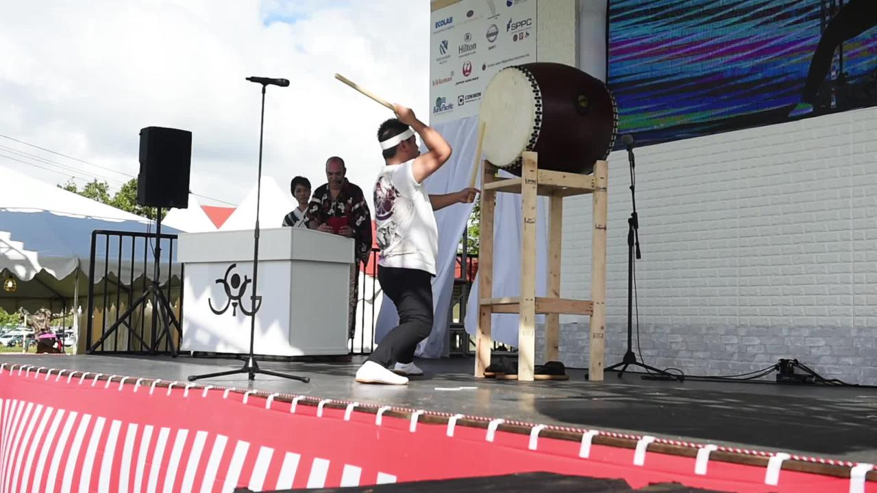 Japanese entertainers take the stage at festival