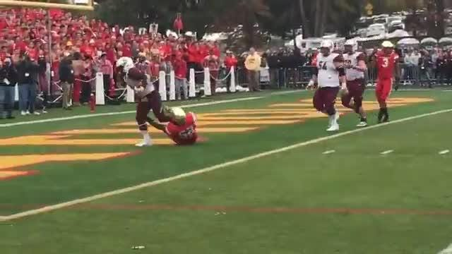 Kyle Monangai extended Don Bosco's lead with a 10-yard TD run to put the Ironmen up 10-0.