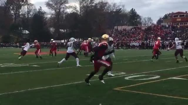 Don Bosco's Michael Courney picks off Bergen Catholic pass in the end zone