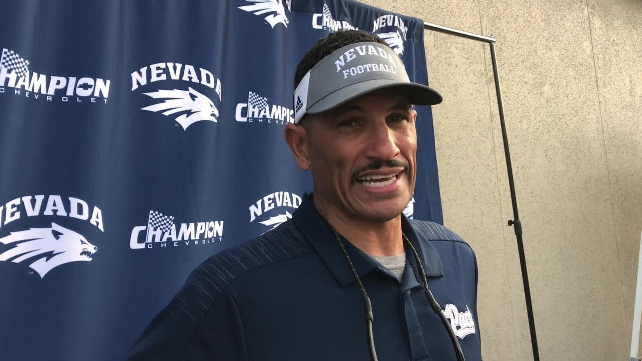 Wolf Pack football coach Jay Norvell talks about winning at San Jose State, Nevada's seventh victory of the season.
