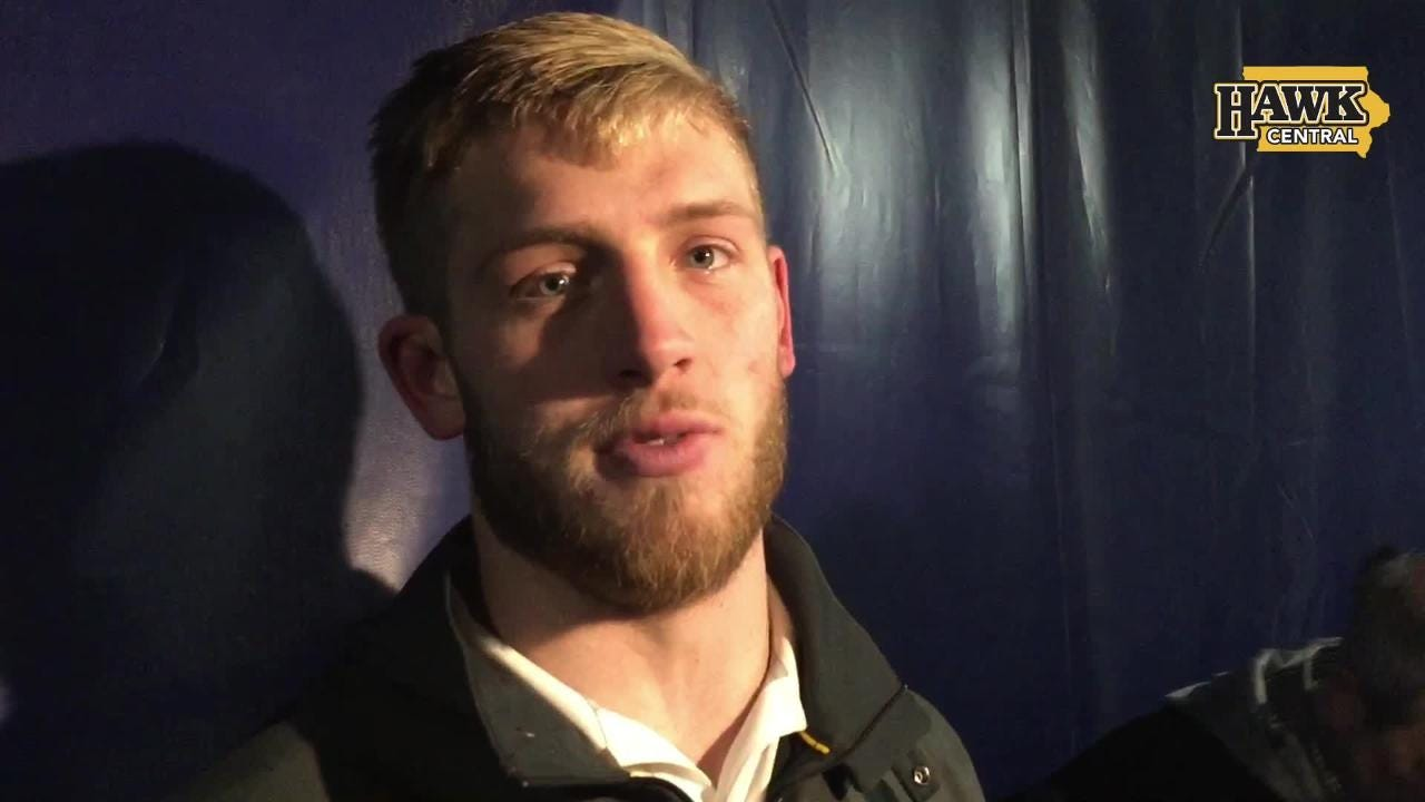Iowa free safety Jake Gervase was pretty happy about a 63-0 win against Illinois.