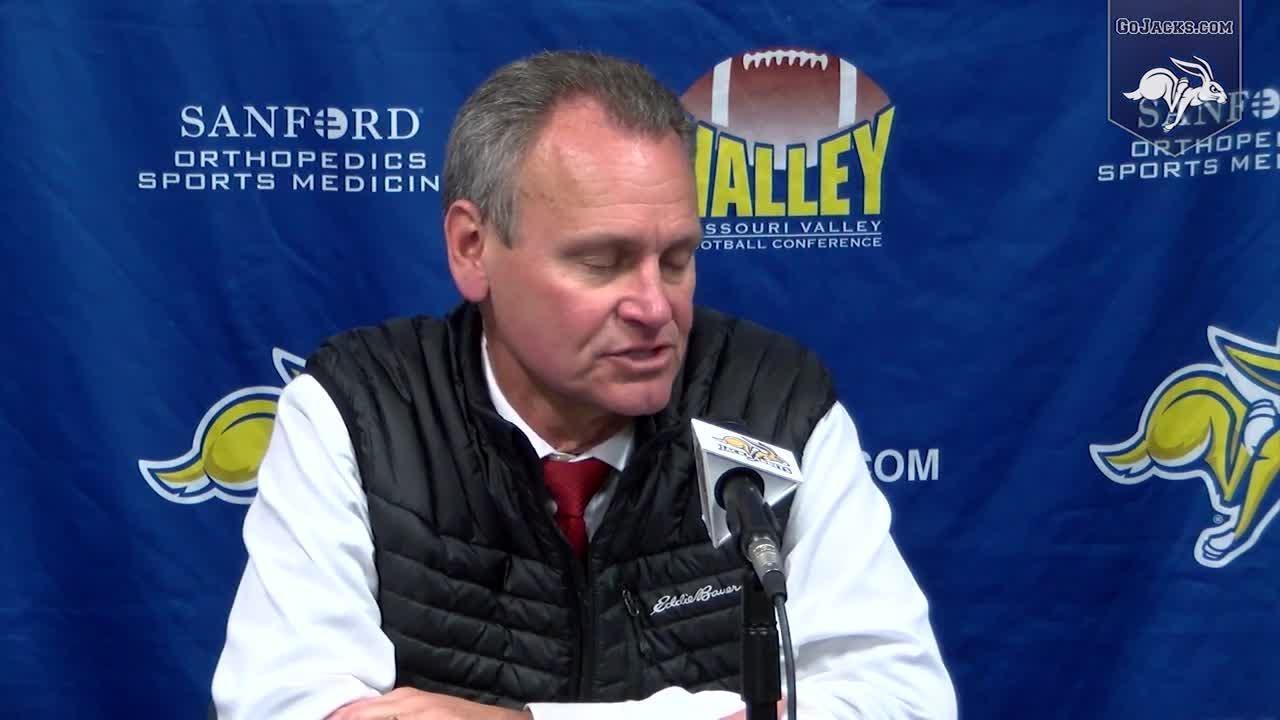 USD coach Bob Nielson talks to media after loss to SDSU