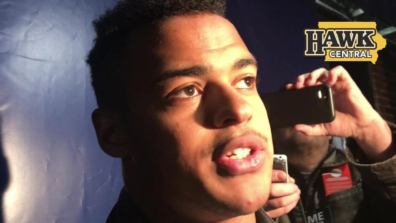 Iowa tight end Noah Fant on his increased role Saturday