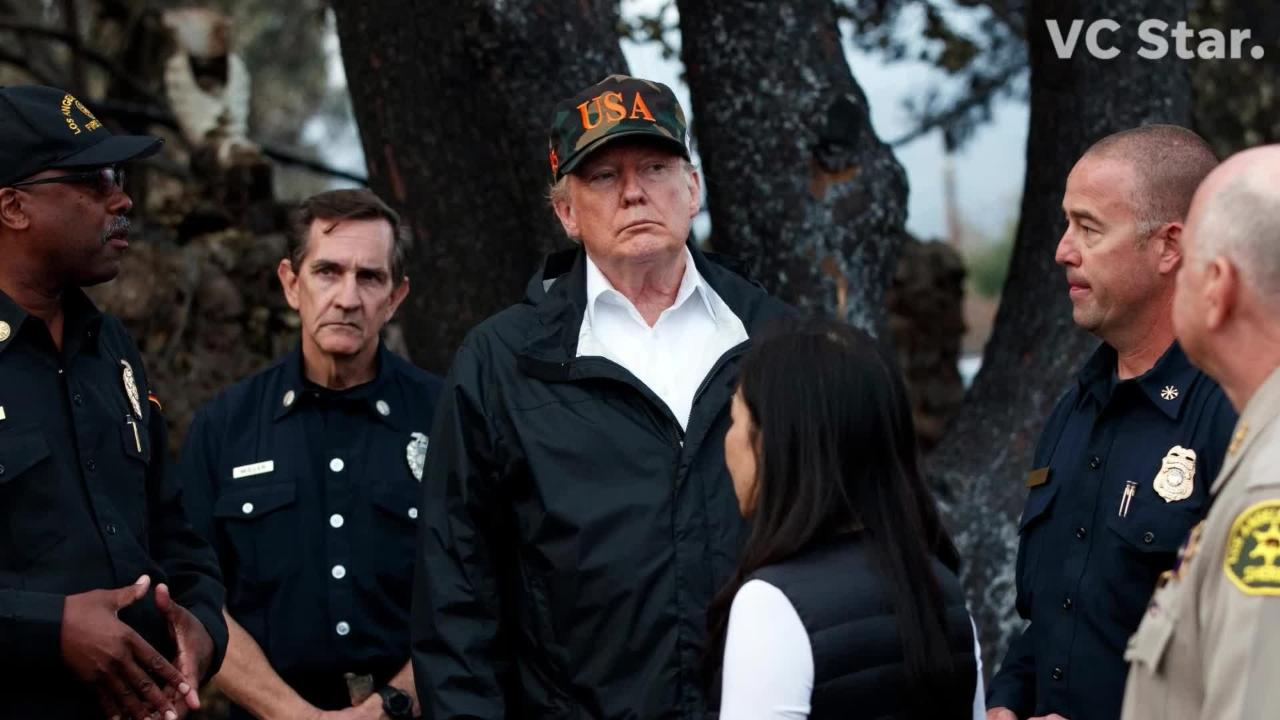 President Donald Trump paid a visit to Malibu to see the damage cause by the Woolsey Fire. Here's what he saw.
