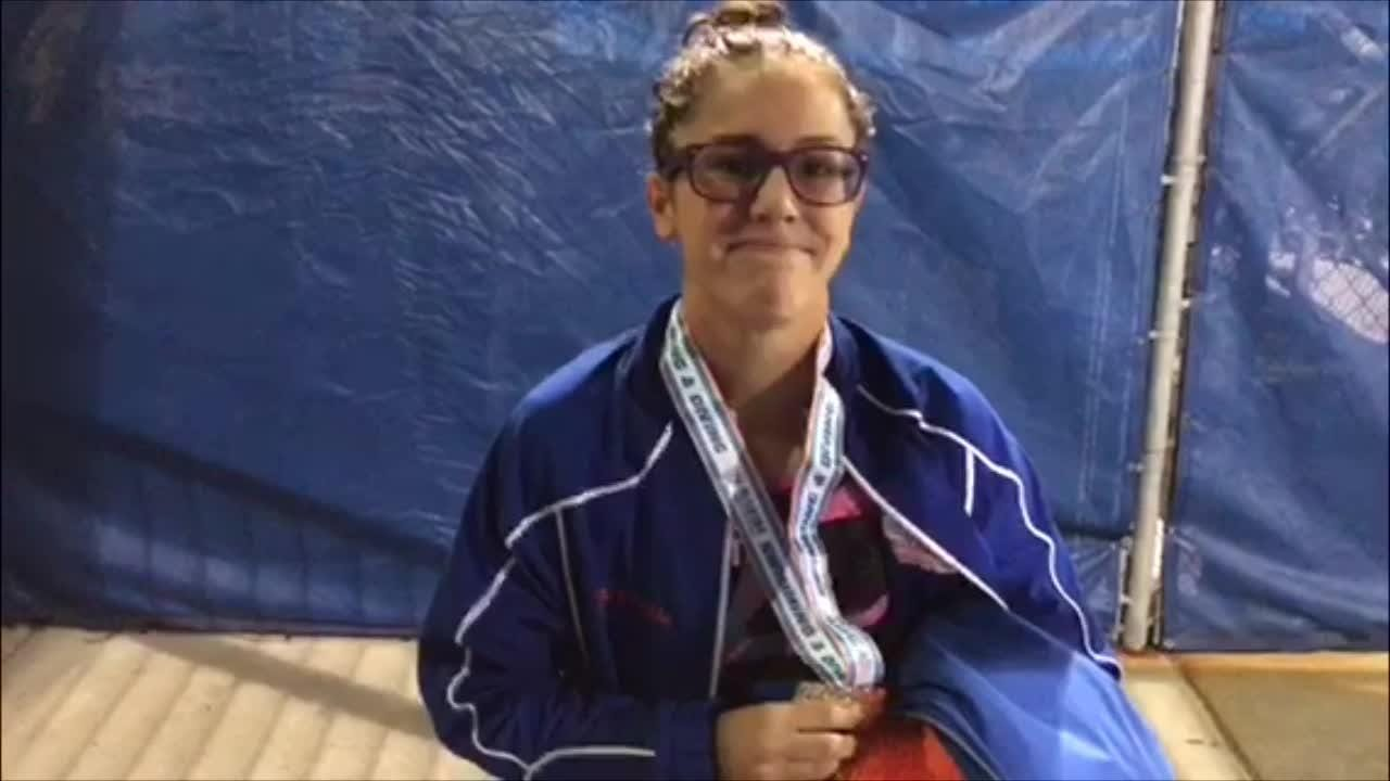 Seahawks swimmer Nicole Rodriguez won the Class 2A state title in the 200 IM and John Pellegrino took second in the 200 freestyle.