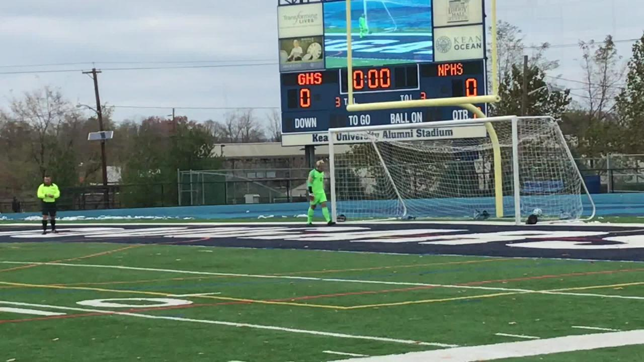 The New Providence boys soccer team fell to Glassboro 4-2 in penalty kicks in the Group I final on Saturday, Nov. 17, 2018.
