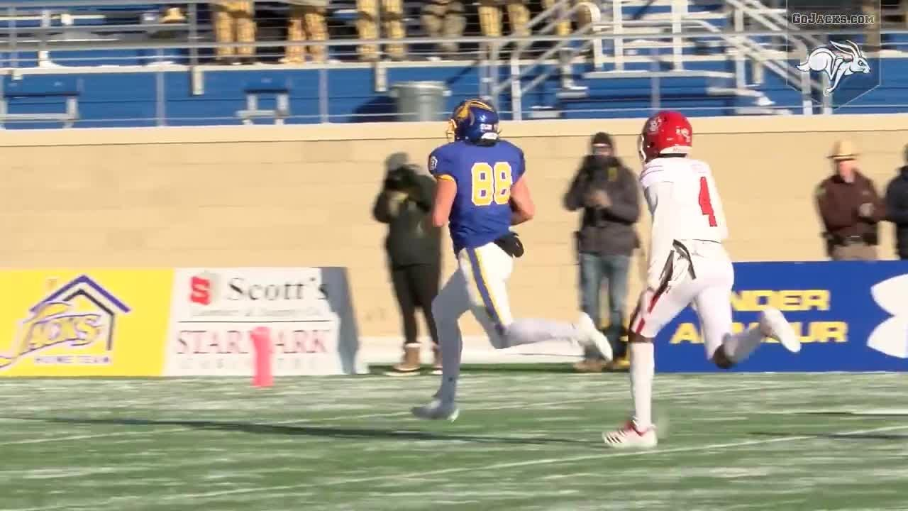 Fifth-ranked South Dakota State stormed out to a 28-7 first-quarter lead and ran away for a 49-27 victory over the University of South Dakota.