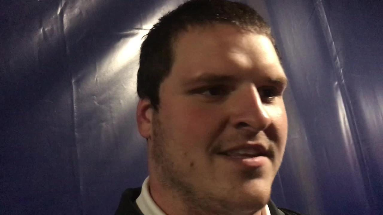 Iowa center Keegan Render could sense his team was fired up Saturday