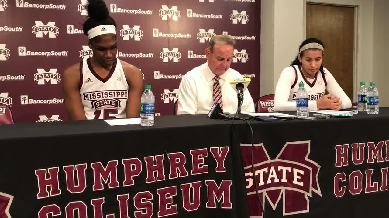 Mississippi State head coach Vic Schaefer on...