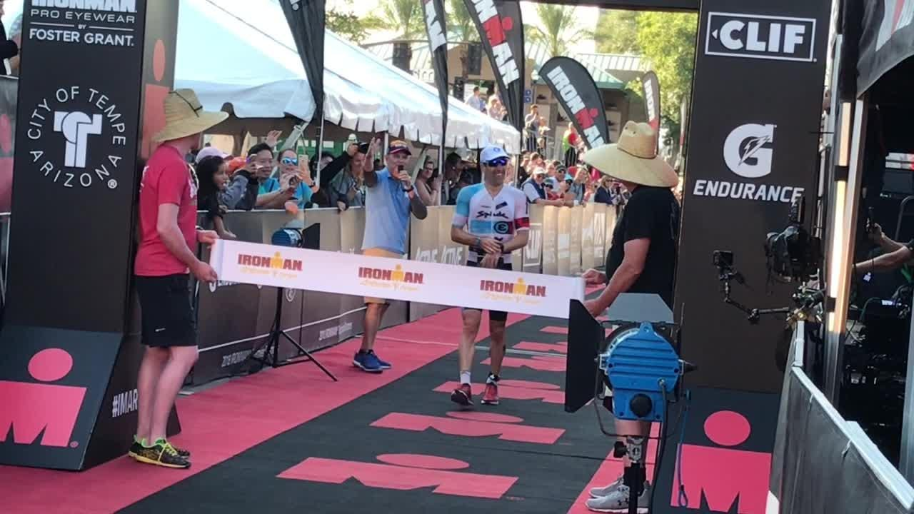 41-year-old Eneko Llanos of Spain wins Ironman Arizona seven years after his 2011 title.