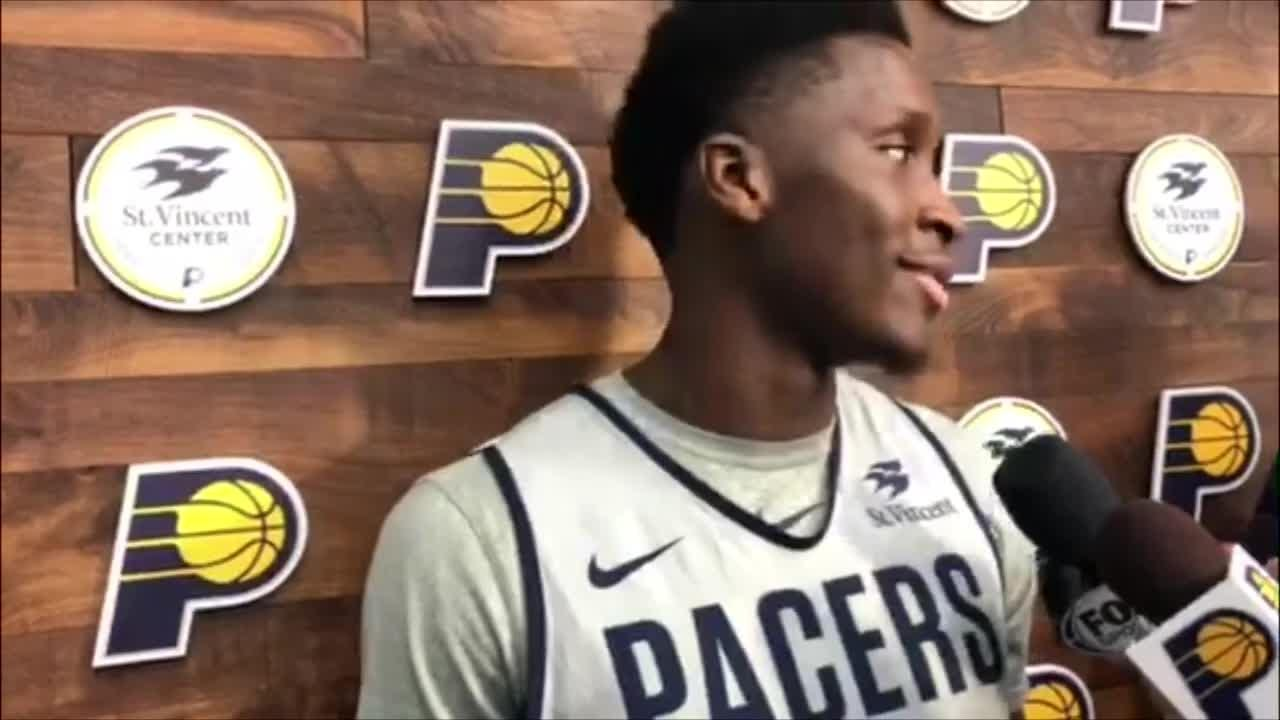 Pacers' Victor Oladipo says he will miss Monday's game vs. Jazz