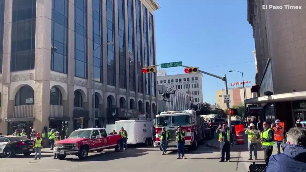 fire at blue flame building in downtown el paso