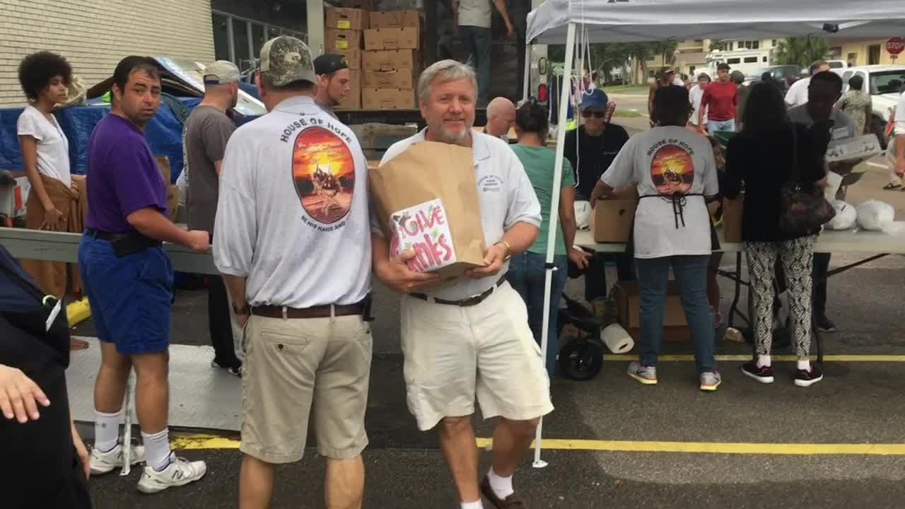 House of Hope on Merritt Island handed out more than 2,200 Thanksgiving dinners Nov. 19, 2018.  The program is a community outreach between 3 churches