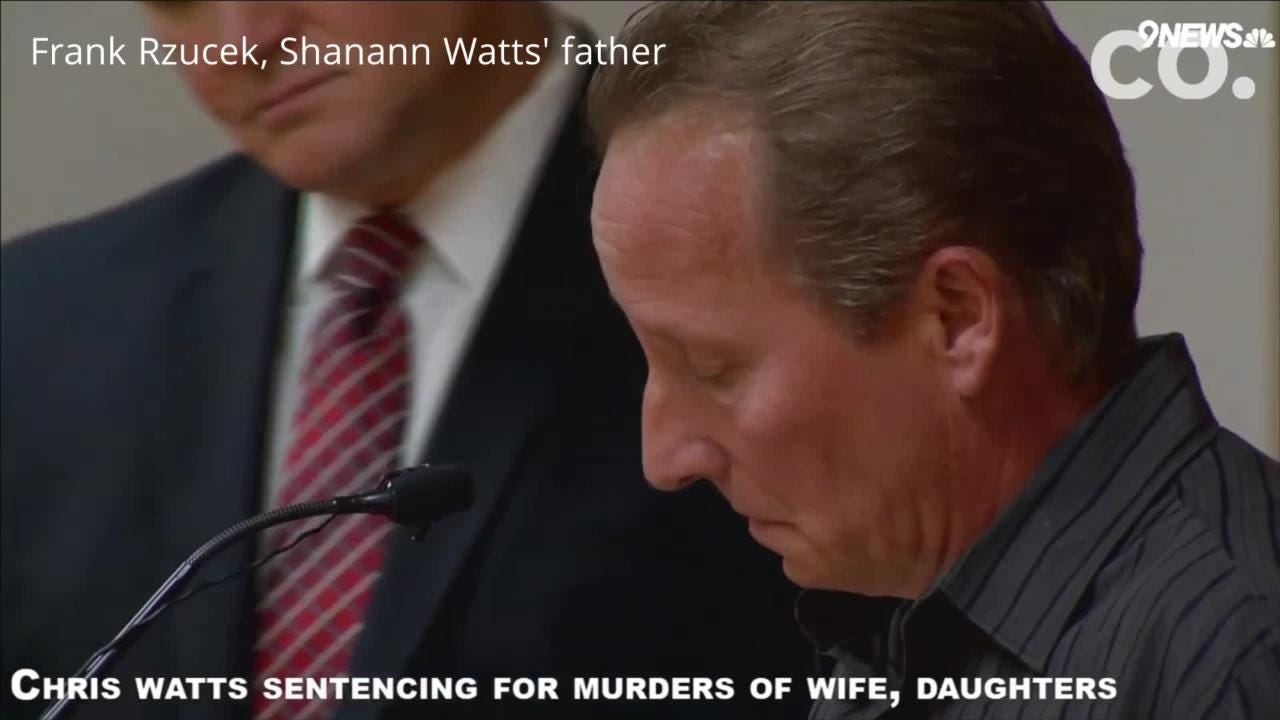 Shannan Watts' parents gave emotional testimony at Chris Watts' sentencing for the murder of his pregnant wife and two daughters.