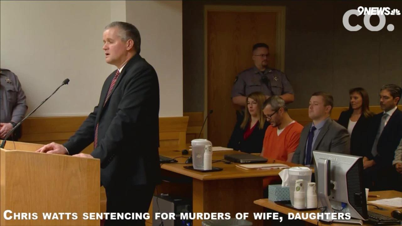 At Chris Watts' sentencing, Weld County DA Michael Rourke shared details about Watt's alleged motive and the steps he took to conceal the murders.
