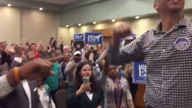Sen. Cory Booker spoke in support of Mississippi U.S. Senate candidate Mike Espy at the University of Southern Mississippi on Nov. 19, 2018.