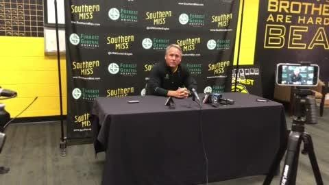 Southern Miss coach Jay Hopson talked Monday about his team's win over La. Tech, plus his firsts take looking at UTEP.