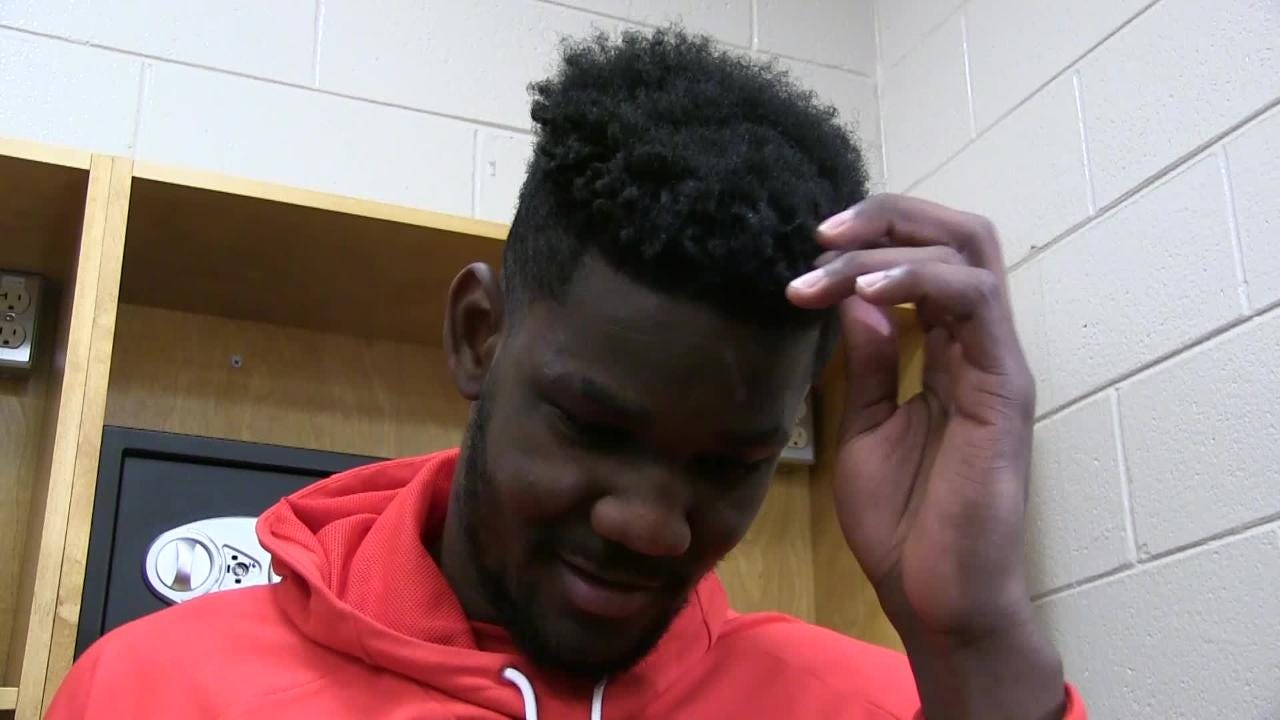 Joel Embiid and Deandre Ayton gave each other high praise after Philadelphia's 119-114 win Monday night over the Phoenix Suns at Wells Fargo Center.