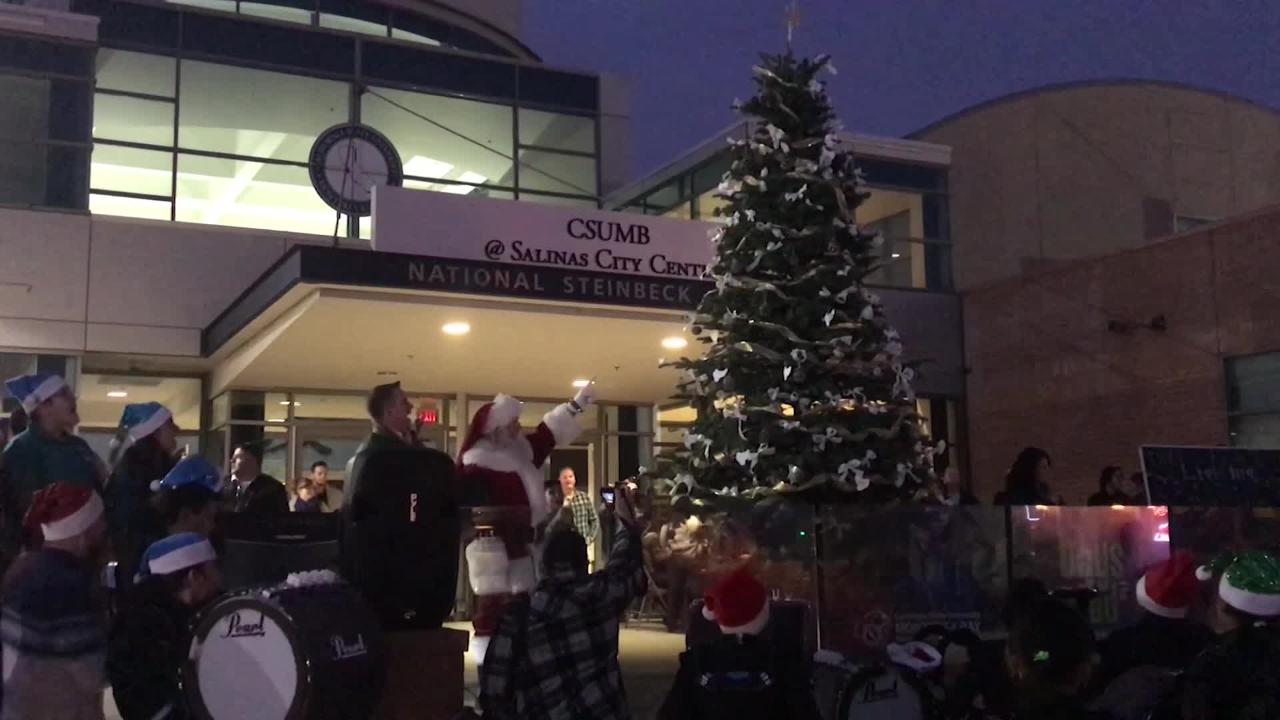 The Salinas Tree for Peace 2018 ceremony concluded with the lighting of the official Christmas Tree of the City of Salinas.