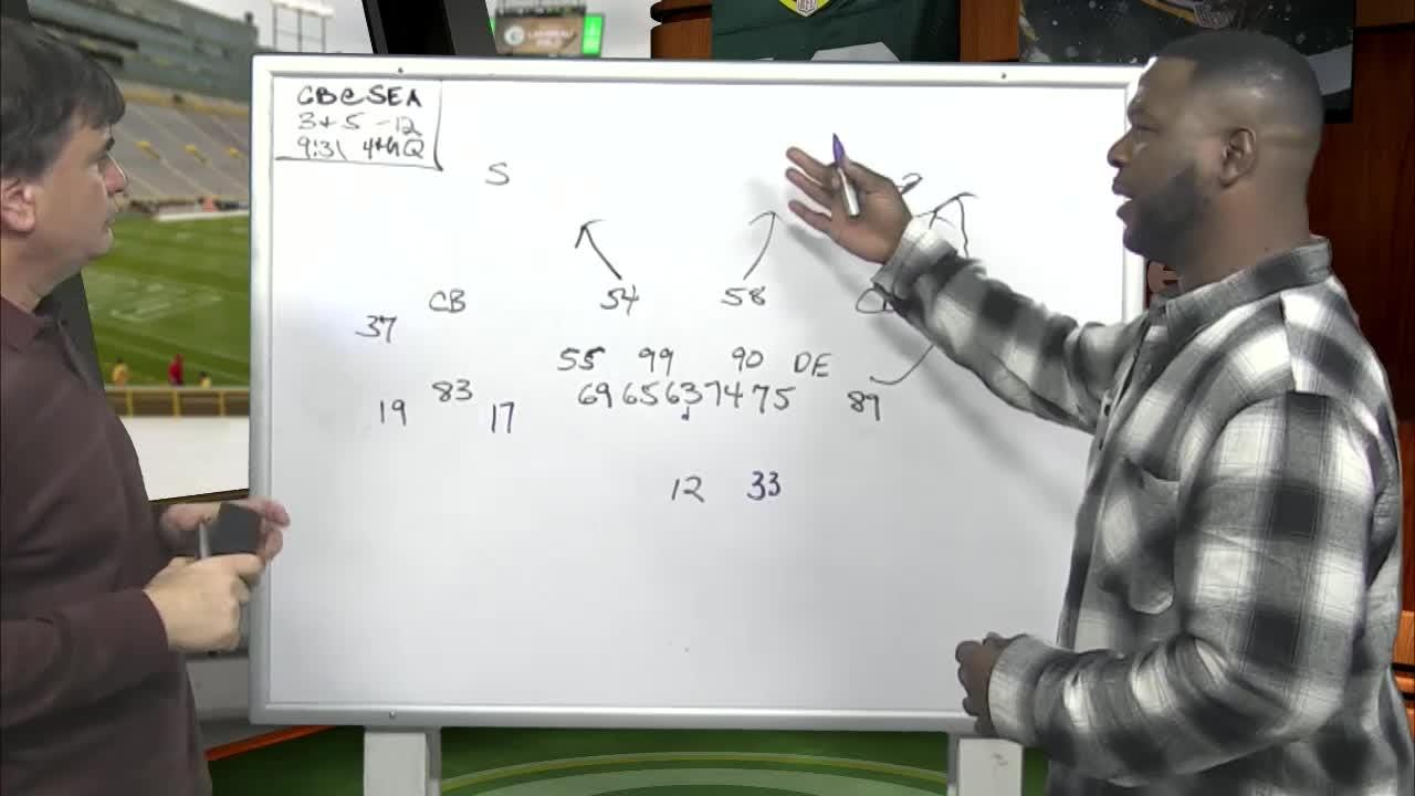 Former Packers All-Pro safety LeRoy Butler and JS reporter Tom Silverstein diagram two examples of Aaron Rodgers not taking advantage of big-play opportunities in the loss in Seattle.