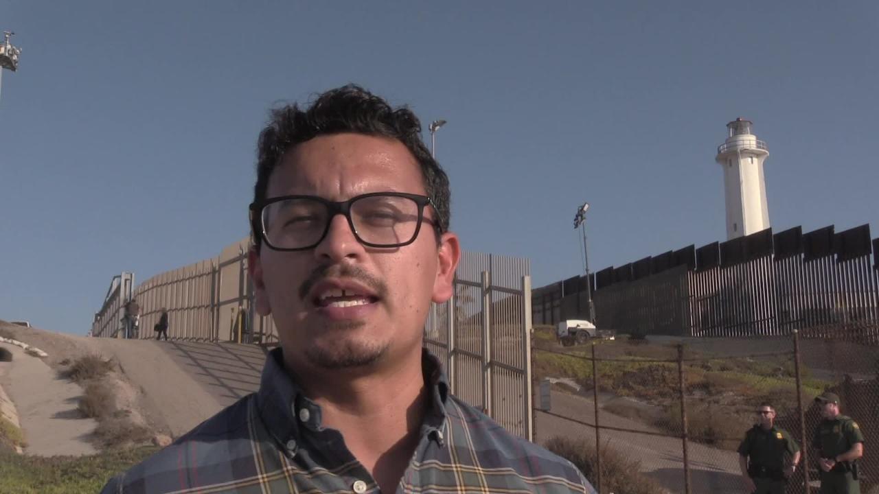 U.S. Department of Homeland Security Secretary Kirstjen Nielsen toured the U.S.-Mexico border fence in San Diego on Nov. 20, 2018.
