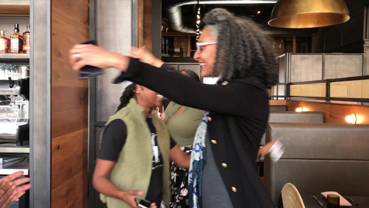 Food personality Carla Hall meets Ashleigh Shanti, the new chef de cuisine of Benne on Eagle in Asheville. Shanti shares the rap she wrote for Hall.